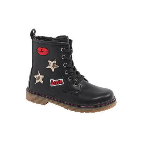 Čierna členková obuv na zips Cupcake Couture