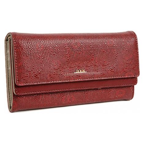 Dámska peňaženka Doca 64484 - vínová