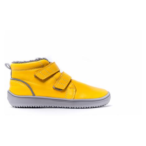Detské zimné barefoot topánky Be Lenka Penguin - Yellow 35