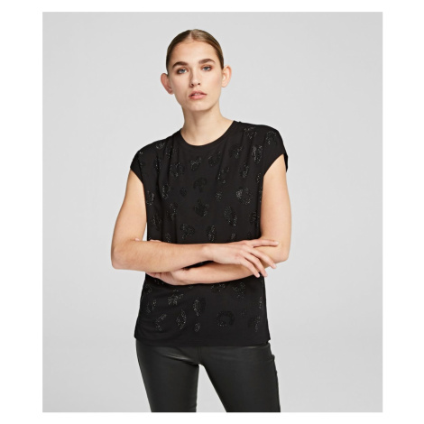 Tričko Karl Lagerfeld Rhinestones Branded T-Shirt