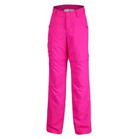 Columbia SILVER RIDGE III CONVT G ružová - Dievčenské outdoorové nohavice