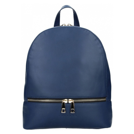 Dámsky kožený batoh Facebag Paloma - modrá