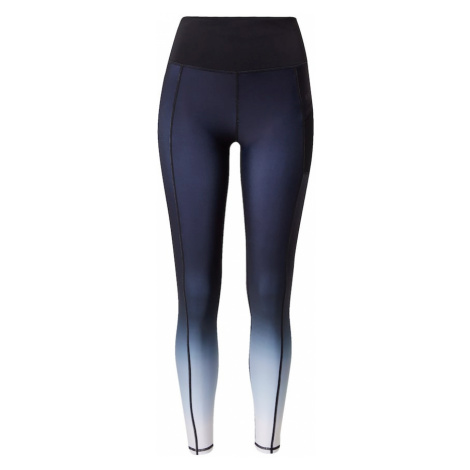 Superdry Športové nohavice  biela / modrá / tmavomodrá
