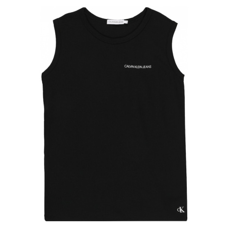 Calvin Klein Jeans Tričko 'WAFFLE SLEEVELESS TOP'  čierna