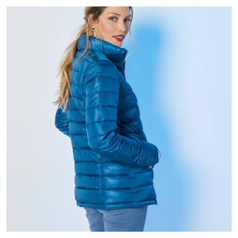 Blancheporte Jednofarebná prešívaná bunda, krátka modrá atrament