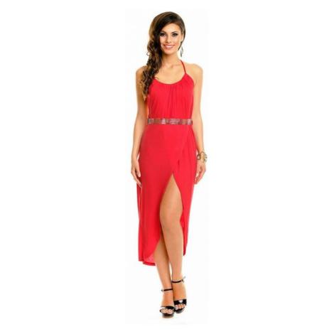 Dámske dlhé červené šaty Ginevra