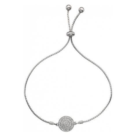 Hot Diamonds Strieborný náramok s pravým diamantom Flora DL578