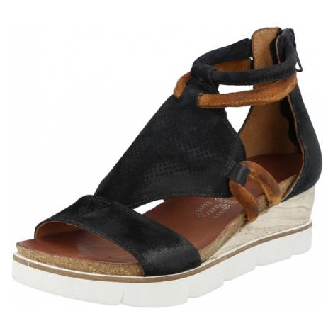MJUS Remienkové sandále 'TAPASITA'  čierna / karamelová