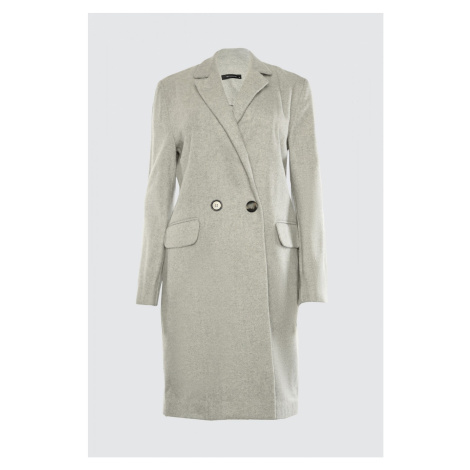 Trendyol Gray Button Stamp Coat