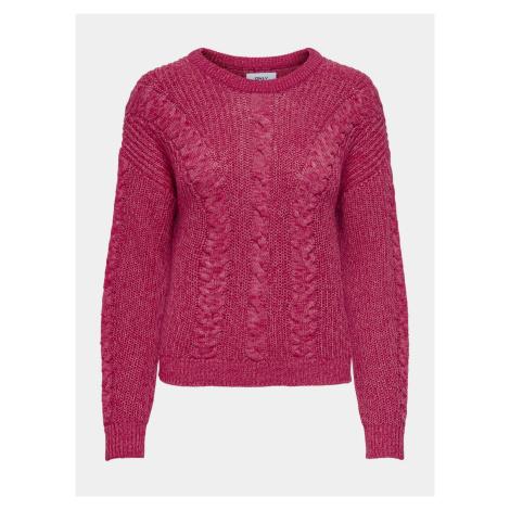 Tmavo ružový sveter ONLY Rosie
