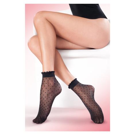 Čierne ponožky Puntina 20DEN Gabriella