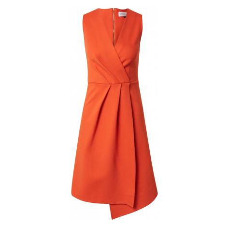Closet London Kokteilové šaty  oranžová