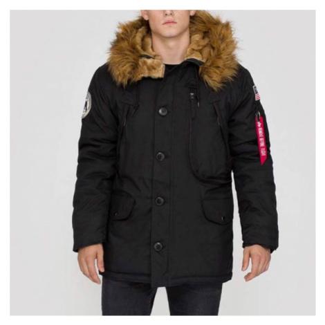 Pánska bunda Alpha Industries Polar Jacket Black - Veľkosť:2XL