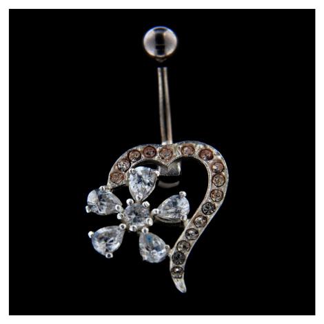 Strieborný piercing 14487