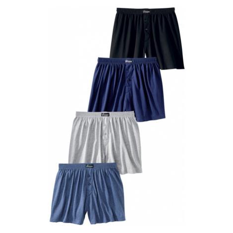 LE JOGGER Boxerky  čierna / námornícka modrá / námornícka modrá / sivá