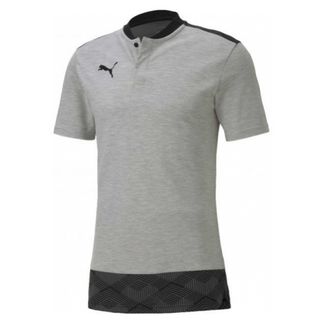 Puma TEAM FINAL 21 CASUALS POLO sivá - Unisex tričko