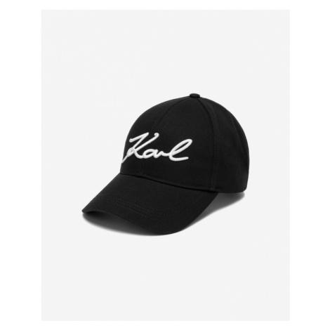 Karl Lagerfeld Signature Šiltovka Čierna