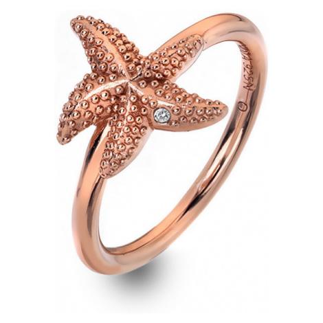 Hot Diamonds Luxusné ružovo pozlátený prsteň s pravým diamantom Daisy RG DR212 mm