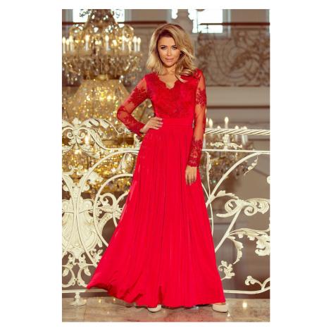 Dámske dlhé spoločenské červené šaty BIONDA 213-3