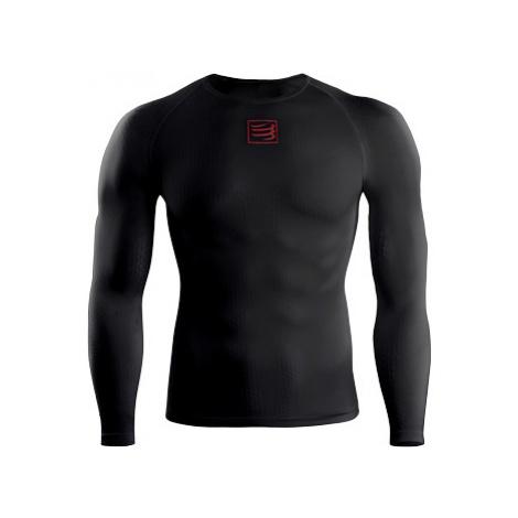 Kompresné Tričko Compressport Long Sleeve Top Black