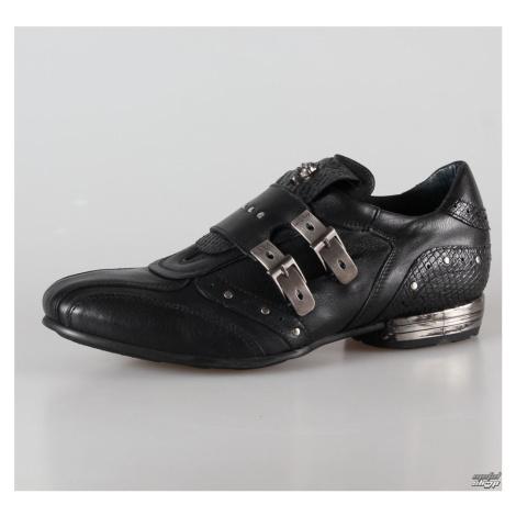 topánky kožené NEW ROCK 2715-S3 Čierna