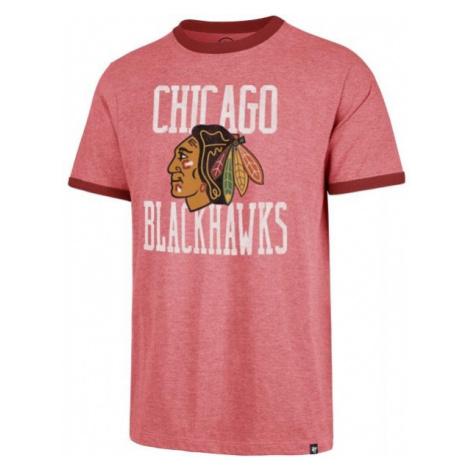 47 NHL CHICAGO BLACKHAWKS BELDIRGE CAPITAL RINGER ružová - Pánske tričko