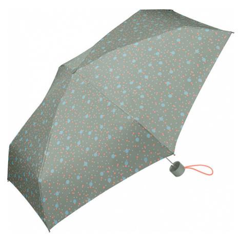 Esprit Dámsky skladací dáždnik Petito Bouncing Dots slate gray