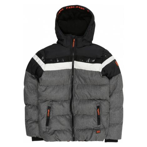 Cars Jeans Zimná bunda 'Byram'  čierna / biela / sivá / oranžová