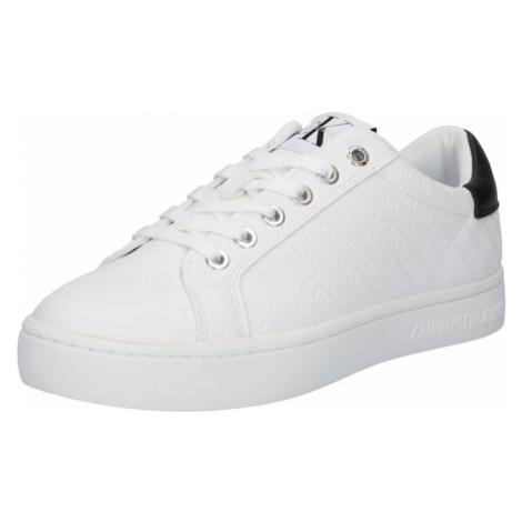 Calvin Klein Jeans Nízke tenisky  biela / čierna