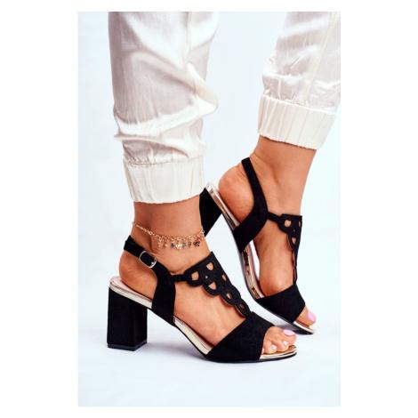 Women's Sandals Eco-Suede Black Vision