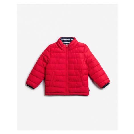 červené chlapčenské zimné bundy