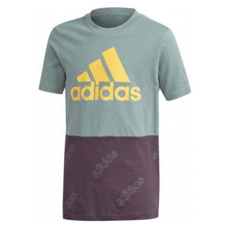 adidas YB FAV AOP FZ TEE - Chlapčenské športové tričko