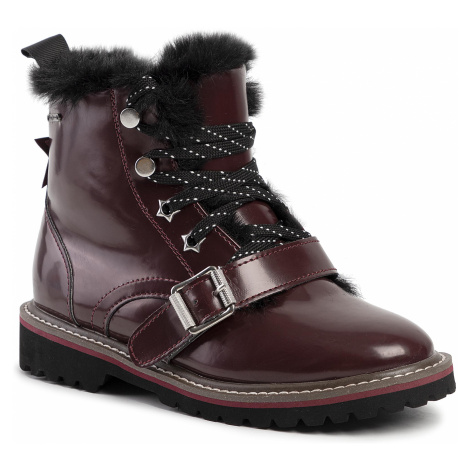 Outdoorová obuv PEPE JEANS - Leia Buckle PGS50138  Burgundy 299