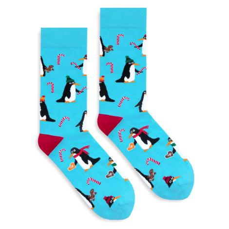 Banana Socks Unisex's Socks Classic X-Mas Penguins