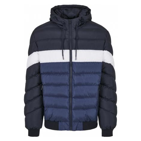 Urban Classics Zimná bunda  biela / námornícka modrá / námornícka modrá