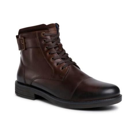 Šnurovacia obuv Lasocki for men MI08-C608-586-05 Prírodná koža(useň) - Lícova