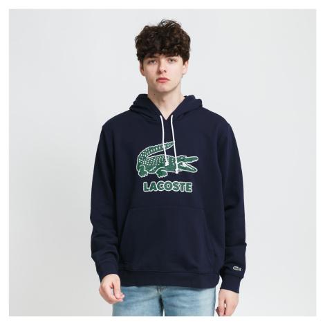LACOSTE Men's Crackled Print Logo Fleece Hoodie nava