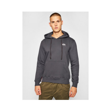 Alpha Industries Mikina Basic Small Logo 196318 Sivá Regular Fit