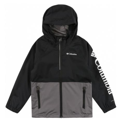 COLUMBIA Športová bunda 'Dalby'  tmavosivá / čierna / biela