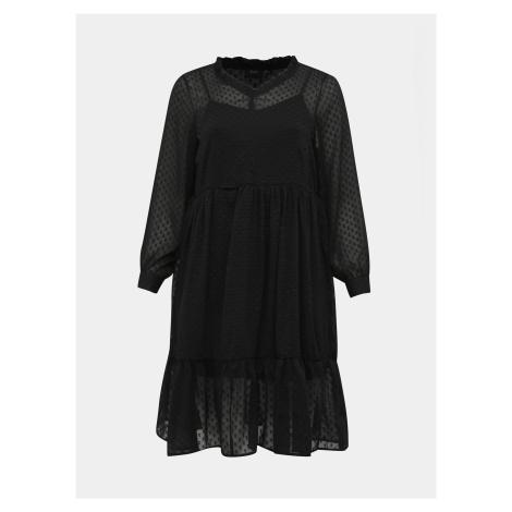 Zizzi čierne šaty s dlhým rukávom