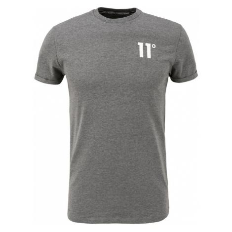 11 Degrees Tričko  sivá melírovaná / biela