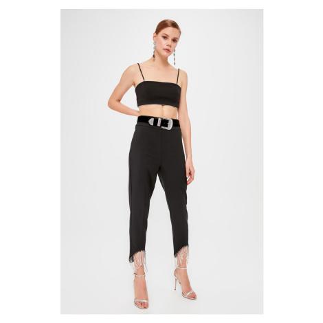 Trendyol Black Stone Accessory Pants Black
