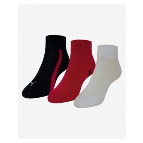 Puma Ponožky 3 páry Čierna Červená Biela