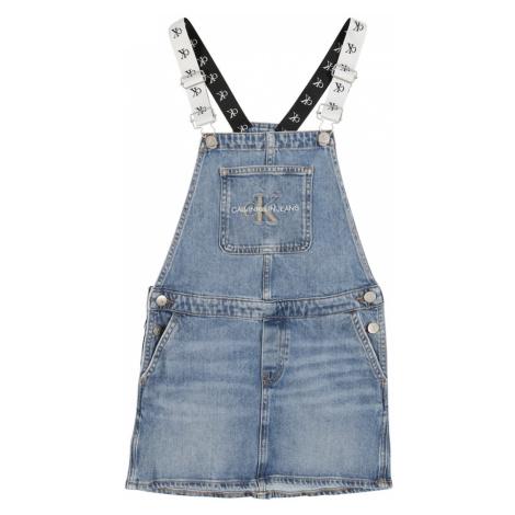 Calvin Klein Jeans Šaty 'DUNGAREE'  modrá denim