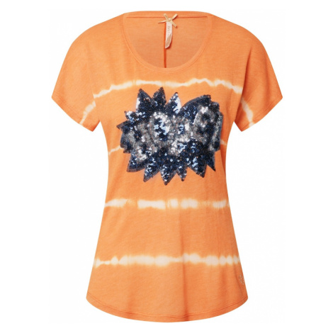 Key Largo Tričko 'T FESTIVAL'  oranžová / biela / tmavomodrá