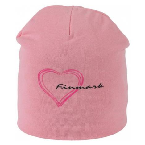 Finmark ČIAPKA ružová - Zimná čiapka