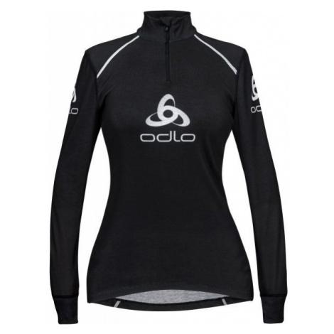 Odlo STAND-UP COLLAR L/S 1/2 ZIP ORIGINALS LIGHT LOGOLINE čierna - Dámske funkčné tričko