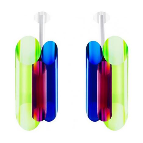 Preciosa Strieborné náušnice s kryštálmi Neon Collection by Veronica 70