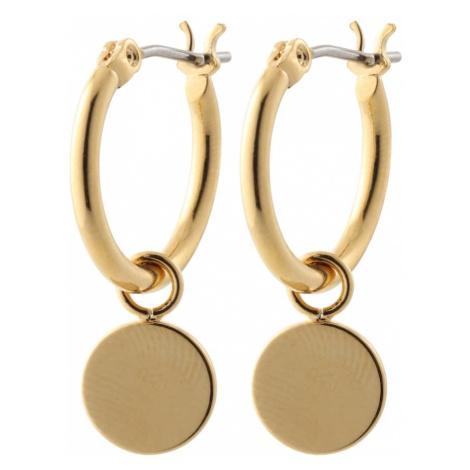 Orelia Náušnice 'Chunky Mini Coin & Hoop'  zlatá