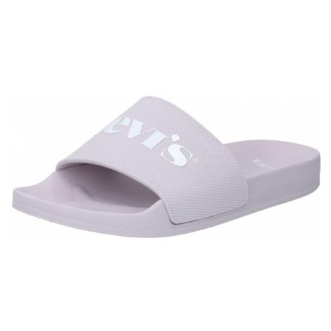 LEVI'S Plážové / kúpacie topánky 'JUNE'  fialová / biela Levi´s